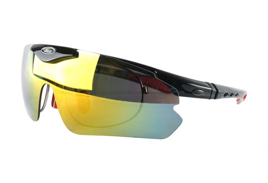 Prescription Sports Glasses sp015blackred