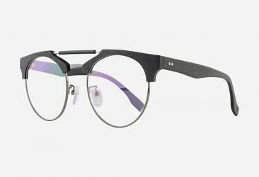 Round Eyeglasses 114BLACKGUN