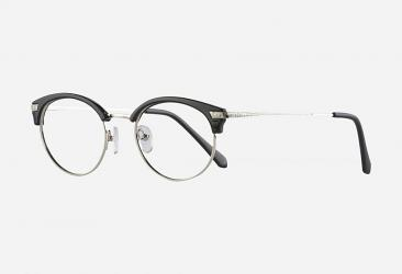 Round Eyeglasses 1816black