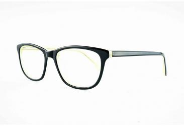 Oval Eyeglasses 1856_blackyellow