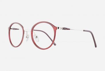 Round Eyeglasses 2025burgundy