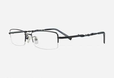 Semi-Rimless Eyeglasses 2998black
