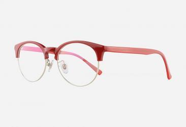 Round Eyeglasses 5001RED