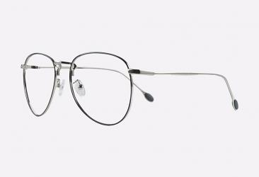 Aviator Eyeglasses 55903BLACKSILVER