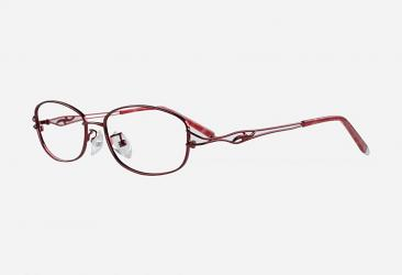 Oval Eyeglasses 56132red