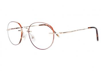 Round Eyeglasses 8007_brown