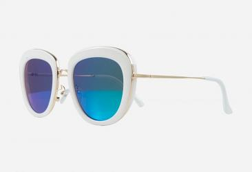 Cat Eye Sunglasses 9817white
