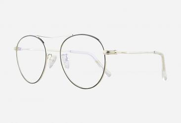 Aviator Eyeglasses s22127black_silver