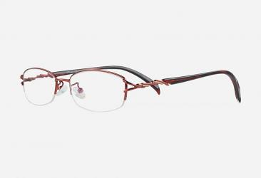 Semi-Rimless Eyeglasses n6502red