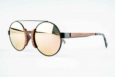 Round Sunglasses Owood_03_Black