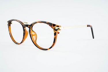 Round Eyeglasses p77333demi