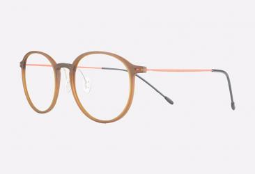 Round Eyeglasses trm3301brown_orange_c5